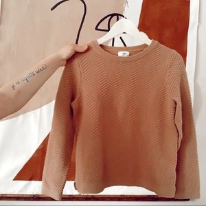 Old navy Tan boxy first sweater